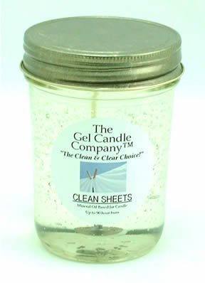 Clean Sheets 90 Hour Gel Candle Classic Jar