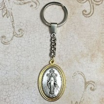 Miraculous Mary Lady of Grace Protection Keychain Key Chain Ring Made in Italy  - $11.99