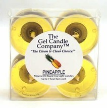 Pineapple Scented Gel Candle Tea Lights - 4 pk. - €4,06 EUR