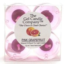 Pink Grapefruit Scented Gel Candle Tea Lights - 4 pk. - €4,06 EUR