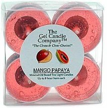 Mango Papaya Scented Gel Candle Tea Lights - 4 pk. - €4,20 EUR