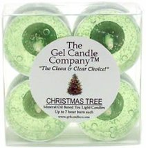 Christmas Tree Scented Gel Candle Tea Lights - 4 pk. - €4,22 EUR