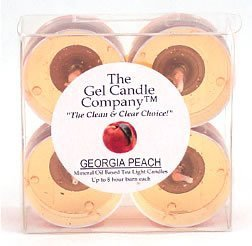 Georgia Peach Scented Gel Candle Tea Lights - 4 pk.