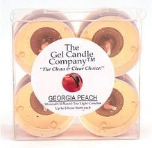 Georgia Peach Scented Gel Candle Tea Lights - 4 pk. - €4,20 EUR