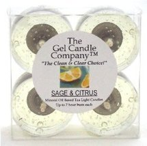 Sage and Citrus Scented Gel Candle Tea Lights - 4 pk. - €4,21 EUR