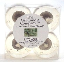 Patchouli Scented Gel Candle Tea Lights - 4 pk. - €4,21 EUR