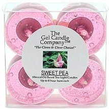Sweet Pea Scented Gel Candle Tea Lights - 4 pk. - €4,20 EUR