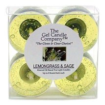 Lemongrass and Sage Scented Gel Candle Tea Lights - 4 pk. - €4,20 EUR
