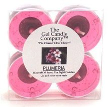 Plumeria Scented Gel Candle Tea Lights - 4 pk. - $4.80