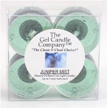 Juniper Mist Scented Gel Candle Tea Lights - 4 pk. - $4.80