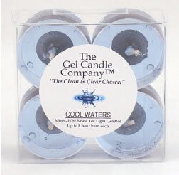 Cool Water Inspired Scented Gel Candle Tea Lights - 4 pk.