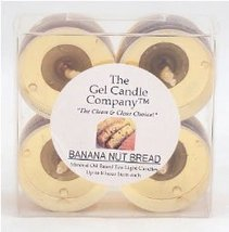Banana Nut Bread Scented Gel Candle Tea Lights - 4 pk. - €4,21 EUR