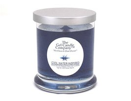 Cool Water Inspired Scented Gel Candle - 120 Hour Deco Jar - $15.47