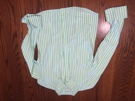Tommy Hilfiger Woman's Green Striped Shirt Blou... - $16.44