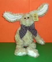 "Bearington Collection Plush Burton Long Poseable Ears Beige 12"" Bunny Ra... - $10.79"