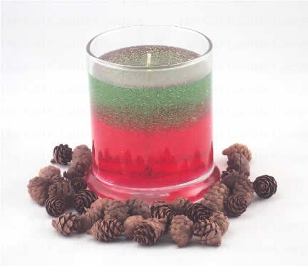Primary image for Christmas Tree/Peppermint Scented Gel Candle Candle - Deco Jar
