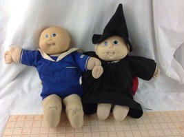 Vintage 1985 Cabbage Patch Kids Doll Boy Bald Tooth & Look Alike Witch Costume - $52.95