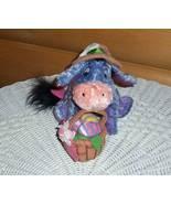 "Winnie Pooh Easter Flower Hat Fancy Decorated Egg Basket Eeyore Plush 8""... - $8.95"