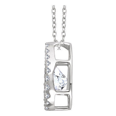 "Primary image for Diamond 16-18"" Mystara® Necklace In 14K White Gold (1/3 ct. tw.)"