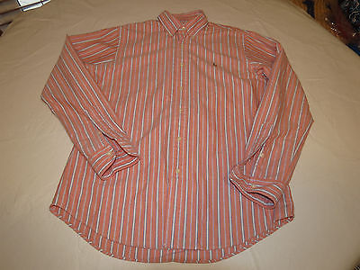 Primary image for Polo by Ralph Lauren Mens M cotton long sleeve striped button up Shirt EUC @