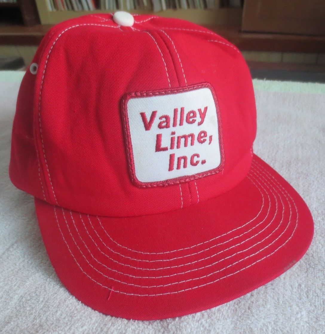 Primary image for Valley Lime Inc. - Red Trucker's Snap Back Hat / Cap (Ohio)