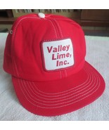Valley Lime Inc. - Red Trucker's Snap Back Hat / Cap (Ohio) - $29.50