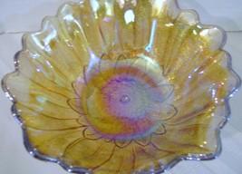 Carnival Glass Marigold Sunflower Candy Dish  - $14.00