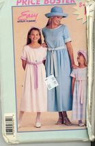 McCalls Easy Dress Pattern P375, for Misses or Children All sizes included  - $5.50