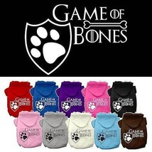 GAME of BONES Dog Hoodie Sweatshirt * 10 Color Choices * Puppy Pet Hoode... - €14,05 EUR+