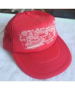 """Vintage """"Map Of The Hawaiian Islands"""" Red Truckers Style Hat W/Mesh - $29.50"""