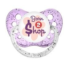 Born To Shop Pacifier - Glitter Purple - Girl- Ulubulu - Born 2 $hop Bab... - $9.99