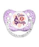 Born To Shop Pacifier - Glitter Purple - Girl- Ulubulu - Born 2 $hop Bab... - $9.99