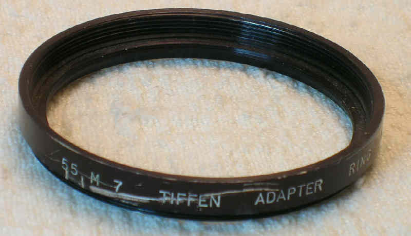 Tiffen 55mm to Series 7 step-up adapter ring -- good usable condition