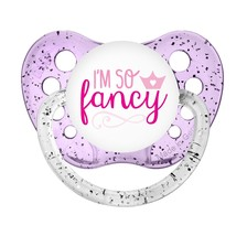 I'm So Fancy Pacifier - Glitter Purple - Baby Girls Pacifier - Ulubulu B... - $9.99