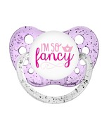 I'm So Fancy Pacifier - Glitter Purple - Baby Girls Pacifier - Ulubulu B... - $9.99