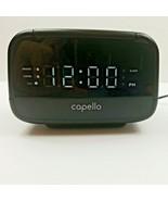 Capello Sleep Easy Digital Alarm Clock with AM/FM Radio Black CR15 USED - $10.20