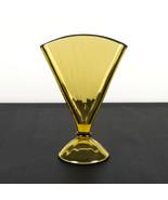 Paden City 503 Amber Fan Vase, Vintage Elegant Glass Domed, Narrow Optic... - $29.40