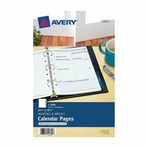 """Avery 14825 Mini Monthly and Weekly Calendar Blank Pages 5.5"""" x 8.5""""  image 2"""