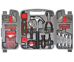 Apollo Tools DT9408 Household Tool Kit 53-Piece Red - $32.66