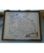 Vintage Map Of The Merce Or Sherrefdome  Berwick Timothy Pont  - $47.30
