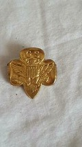 """.75""""ANTIQUE VINTAGE GS GIRL SCOUTS OF AMERICA SIGNED UNIFORM EAGLE PIN, ... - $5.93"""