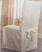 """Ivory Armless Dining Room Chair Cover - Fits Chairs Up To 42"""" Tall - $44.99"""