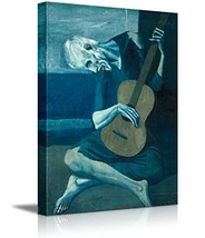 wall26 - The Old Guitarist by Pablo Picasso - Canvas Art Wall Decor - 16... - $28.49