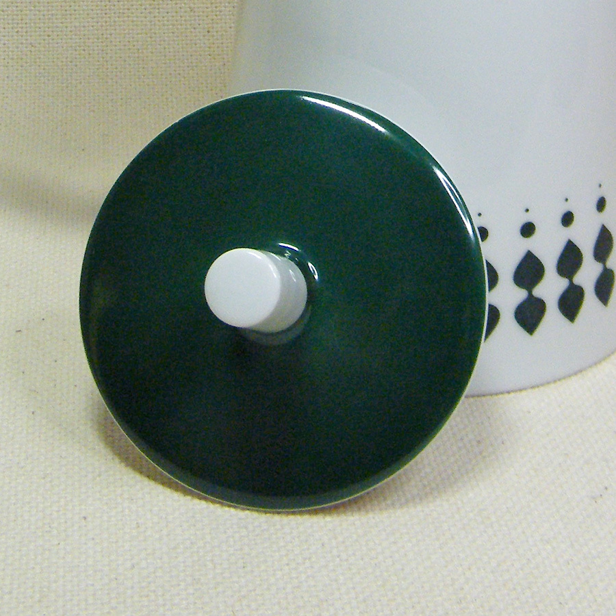 Melitta LANZETTE Dark Green Coffee Pot LID Mid-Century Germany Jupp Ernst - $15.00