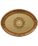 "43"" Oval Gold Ceiling Medallion Decorative Architectural Chandelier Trim - $226.11"