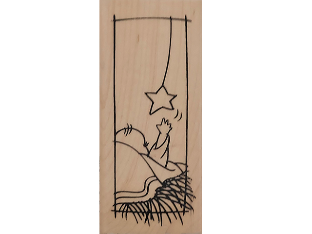 Stampendous 2010 Reaching for the Star Wood Mounted Rubber Stamp #N231