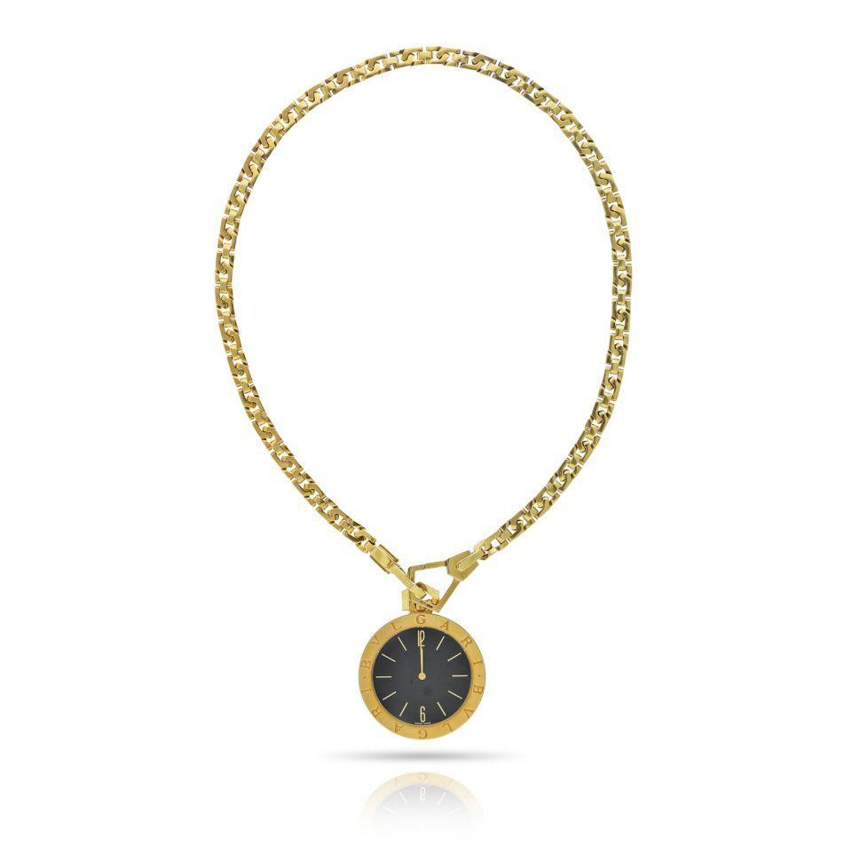 Primary image for Bvlgari 1980's 18K Yellow Gold Pendant On A Chain Watch