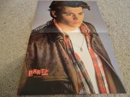 Patrick Swayze Johnny Depp teen magazine poster clipping leather jacket Bop