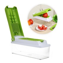 12 in 1 Fruit Vegetable Food Slicer Nicer Dicer Plus Chopper Cutter Peel... - $19.59