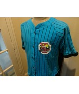 Vtg 90's Sewn Blue Pinstripe Extreme Control Baseball Jersey Fits Adult ... - $34.64
